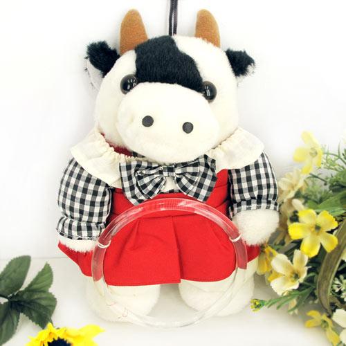【一元特賣會】超卡哇依牛牛娃娃毛巾吊環.掛環