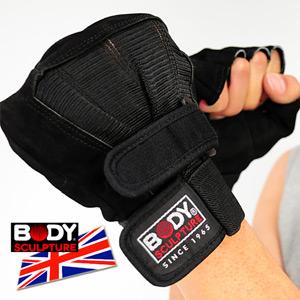 【BODY SCULPTURE】BW-86 皮革健身手套(半指手套.露指手套.運動手套.護具.運動防護.便宜.推薦)