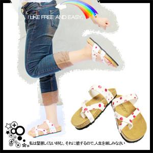 §FREEDOM§ 普普圓點夾腳拖-紅白Cute.拖鞋.涼鞋